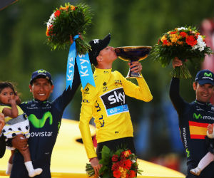 Winnaar Tour de France 2015 Chris Froome Getty