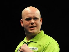 Michael van Gerwen Champions League Darts 2013 Getty