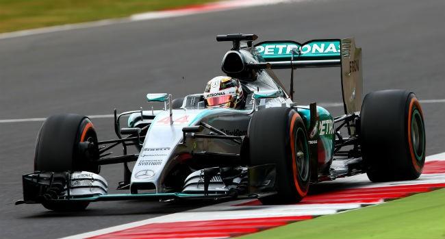 lewis Hamilton pole op silverstone formule 1 getty