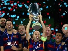 FC barcelona wint Super cup 2015 van Sevilla getty