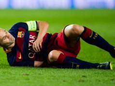 Barcelona wint maar verliest Andres Iniesta champions league getty