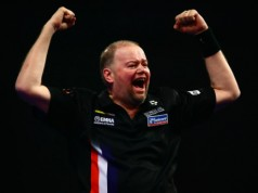 Raymond van Barneveld Premier League Darts 2016 getty