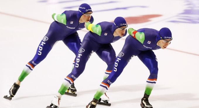 World Cup schaatsen Heerenveen: Nederland stelt teleur