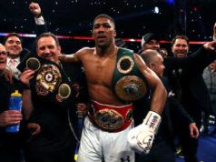 Anthony Joshua wint met KO van Wladimir Klitschko | boksen winnaar Getty