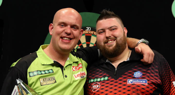 Gokken op Michael van Gerwen WK Darts finale favoriet bookmakers | Getty