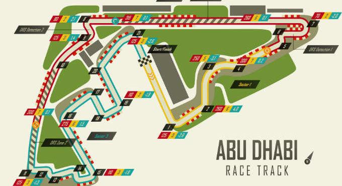Formule 1 circuit Abu Dhabi