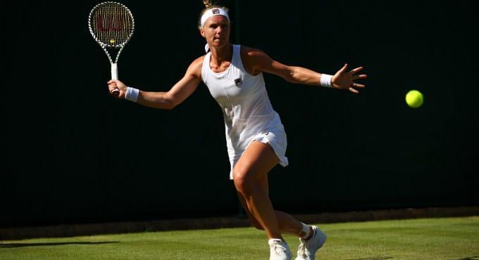 Wimbledon: Kiki Bertens in derde ronde tegen Barbora Strycova   Getty