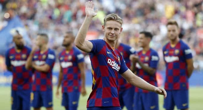 Voetbal betting tips FC Barcelona Frenkie de Jong | Getty