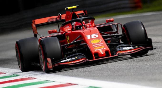 F1 GP Italië: Leclerc pole Monza kwalificatie
