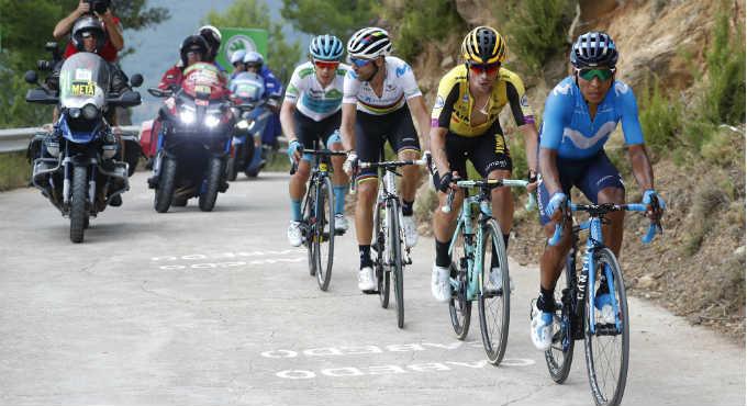 Primoz Roglic Vuelta a Espana 2019: vier favorieten binnen 20 seconden | Getty