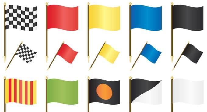Regels Formule 1 vlaggen betekenis